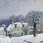 The Place Du Chenil At Marly Le Roi Art Print by Alfred Sisley
