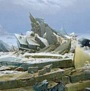 The Polar Sea Art Print by Caspar David Friedrich