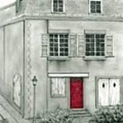 The Red French Door Art Print