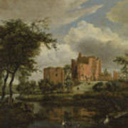 The Ruins Of Brederode Castle Art Print