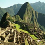 The Ruins Of Machu Picchu, Peru, Latin America Art Print