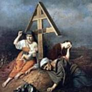 The Scene At The Grave H 1859 58h69 Am Gtg Vasily Perov Art Print