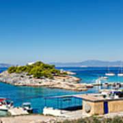 The Small Island Aponisos Near Agistri Island - Greece Art Print