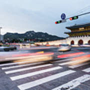 The Streets Of Seoul, South Korea Art Print