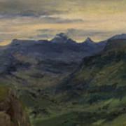 The Valley Of Saint-vincent Art Print