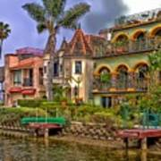 The Venice Canal Historic District Art Print