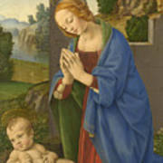 The Virgin Adoring The Child Art Print