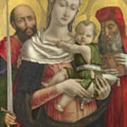 The Virgin And Child With Saints Paul And Jerome Art Print