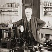 Thomas A. Edison 1847-1931, In His West Art Print by Everett