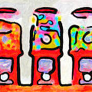 Three Candy Machines Art Print