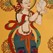Tibetan Buddhist Mural Art Print
