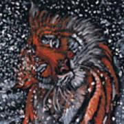 Tiger Bathing Art Print