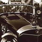Tom Barrett And Family High Bidder Earl Clark At $153,000 Of Adolf Hitlers Mercedes Benz 770k Art Print