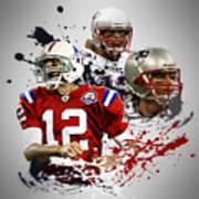 Tom Brady Patriots Art Print
