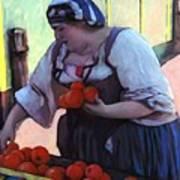 Tomatoe Lady Art Print
