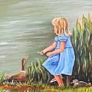 Tori And Her Ducks Art Print