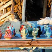 traditional tunis ceramics, Djerba, 07 Nov 2014 Art Print