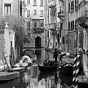 Traditional Venetian Gondolier Art Print