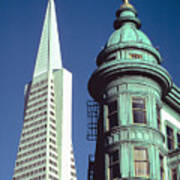 Dueling Architecture In San Francisco Art Print