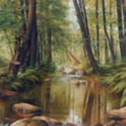 Transcarpatien Landscape Art Print
