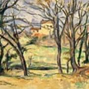 Trees And Houses Near The Jas De Bouffan Art Print