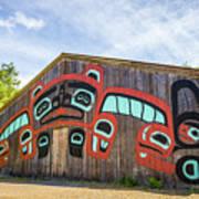 Tribal Totem Pole In Ketchikan Alaska Art Print