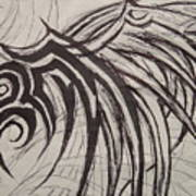 Tribal Wing Sketch Art Print