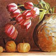 Tulips And Squash Print by David Lloyd Glover