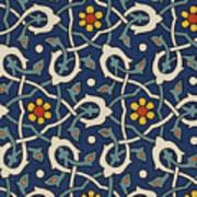 Turkish Textile Pattern Art Print