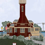 Turtle Rock Lighthouse Art Print