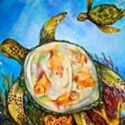 Turtle Tank Art Print