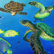 Turtle Towne Art Print