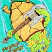 Turtley Awesome Art Print