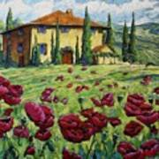 Tuscan Poppies Art Print