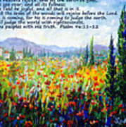 Tuscany Fields With Scripture Art Print