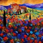 Tuscany Poppies  Art Print