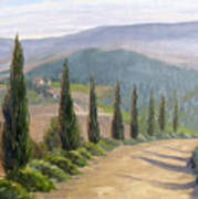 Tuscany Road Art Print