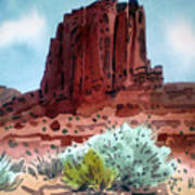 Two Elephants Butte Art Print