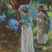Two Girls With Parasols Art Print