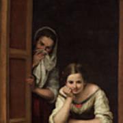 Two Women At A Window Art Print