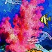 Underwater. Coral Reef. Art Print