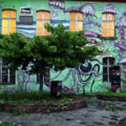Underwater Graffiti On Studio At Metelkova City Autonomous Cultu Art Print