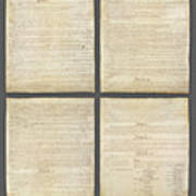 United States Constitution, Usa Art Print