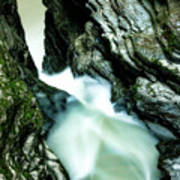 Up The Down Waterfall Art Print