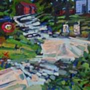 Uphill In Rockport Art Print