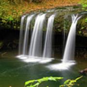 Upper Butte Creek Falls In Autumn Art Print