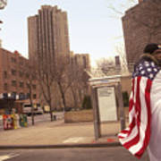 Urban Flag Man Art Print