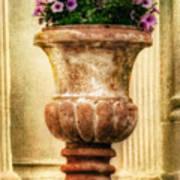 Urn With Purple Flowers Art Print