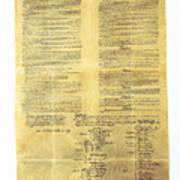 U.s Constitution Art Print