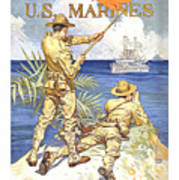 US Marines - WW1 Art Print